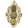 Filigree Pendant Setting34x54mm Flower Antique Brass